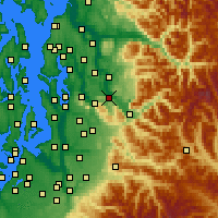 Nearby Forecast Locations - Fall City - Carte