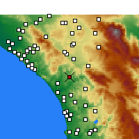 Nearby Forecast Locations - Fallbrook - Carte