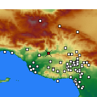 Nearby Forecast Locations - Fillmore - Carte