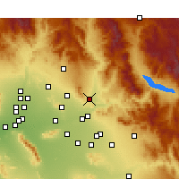 Nearby Forecast Locations - Fountain Hills - Carte