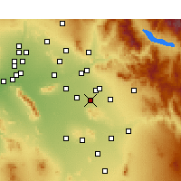 Nearby Forecast Locations - Gilbert - Carte