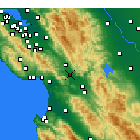 Nearby Forecast Locations - Gilroy - Carte