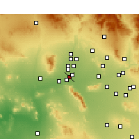 Nearby Forecast Locations - Goodyear - Carte