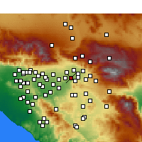 Nearby Forecast Locations - Grand Terrace - Carte