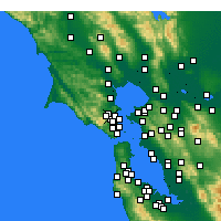Nearby Forecast Locations - Greenbrae - Carte