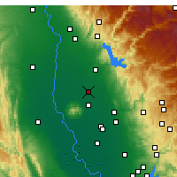 Nearby Forecast Locations - Gridley - Carte