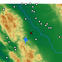 Nearby Forecast Locations - Gustine - Carte