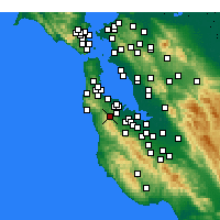 Nearby Forecast Locations - Half Moon Bay - Carte