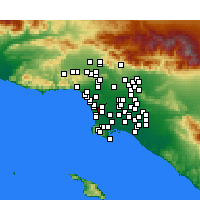 Nearby Forecast Locations - Hawthorne - Carte