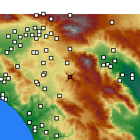 Nearby Forecast Locations - Hemet - Carte