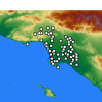 Nearby Forecast Locations - Hermosa Beach - Carte