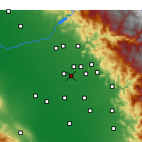 Nearby Forecast Locations - Kingsburg - Carte