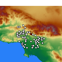 Nearby Forecast Locations - La Crescenta-Montrose - Carte