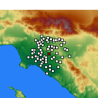 Nearby Forecast Locations - La Habra - Carte