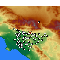 Nearby Forecast Locations - La Verne - Carte