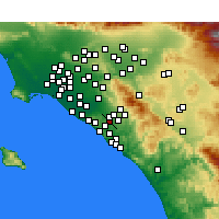 Nearby Forecast Locations - Laguna Hills - Carte