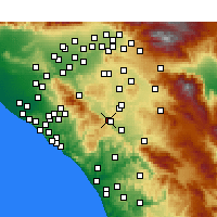 Nearby Forecast Locations - Lake Elsinore - Carte