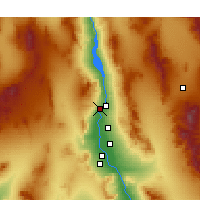 Nearby Forecast Locations - Laughlin - Carte