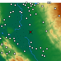 Nearby Forecast Locations - Lodi - Carte