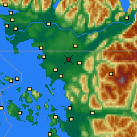 Nearby Forecast Locations - Lynden - Carte