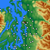 Nearby Forecast Locations - Lynnwood - Carte