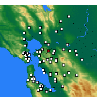 Nearby Forecast Locations - Martinez - Carte