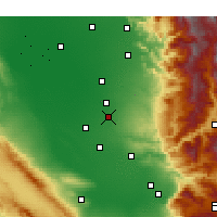 Nearby Forecast Locations - McFarland - Carte