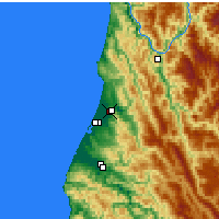 Nearby Forecast Locations - Mckinleyville - Carte