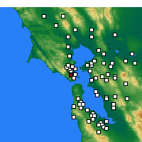 Nearby Forecast Locations - Mill Valley - Carte