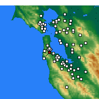 Nearby Forecast Locations - Millbrae - Carte