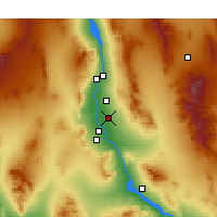 Nearby Forecast Locations - Mohave Valley - Carte