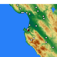 Nearby Forecast Locations - Monterey - Carte