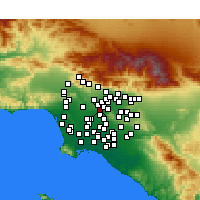 Nearby Forecast Locations - Monterey Park - Carte