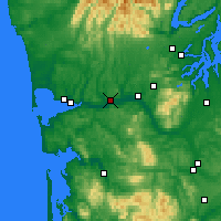 Nearby Forecast Locations - Montesano - Carte