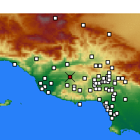 Nearby Forecast Locations - Moorpark - Carte