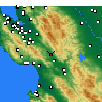 Nearby Forecast Locations - Morgan Hill - Carte