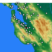 Nearby Forecast Locations - Mountain View - Carte