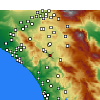 Nearby Forecast Locations - Murrieta - Carte