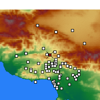 Nearby Forecast Locations - Newhall - Carte