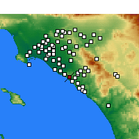 Nearby Forecast Locations - Newport Coast - Carte