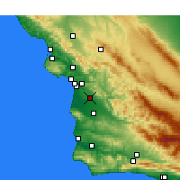 Nearby Forecast Locations - Nipomo - Carte