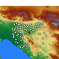 Nearby Forecast Locations - Norco - Carte