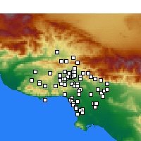 Nearby Forecast Locations - North Hills - Carte