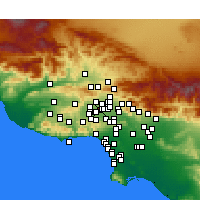 Nearby Forecast Locations - Northridge - Carte