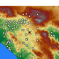 Nearby Forecast Locations - Nuevo - Carte