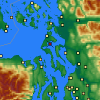 Nearby Forecast Locations - Oak Harbor - Carte