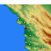 Nearby Forecast Locations - Oceano - Carte