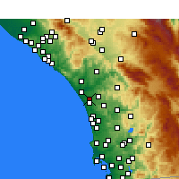 Nearby Forecast Locations - Oceanside - Carte