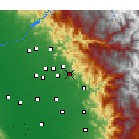 Nearby Forecast Locations - Orosi - Carte