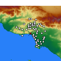 Nearby Forecast Locations - Pacific Palisades - Carte